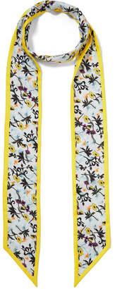 Chloé Floral-printed Silk-twill Scarf - Yellow