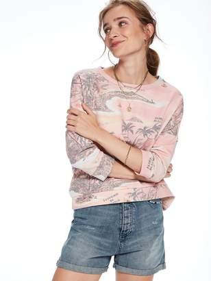 Scotch & Soda Boxy Souvenir Print Sweatshirt