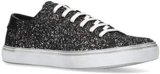 Saint Laurent Glitter Bedford Low-Top Sneakers