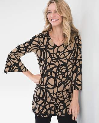 Travelers Collection Ribbon-Print Tunic
