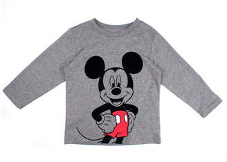 DISNEY MICKEY MOUSE Mickey Mouse Long Sleeve Crew Neck T-Shirt-Toddler Boys