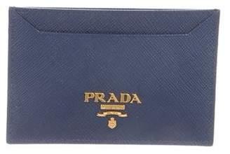 Prada Saffiano Vernice Business Card Holder