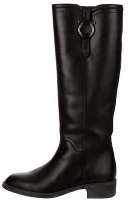 Salvatore Ferragamo Leather Fersea Knee-High Boots Black Leather Fersea Knee-High Boots