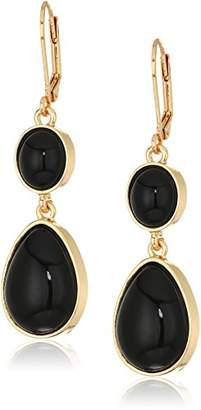 T Tahari Womens Marina Club Euro Wire Drop Earrings With Stones