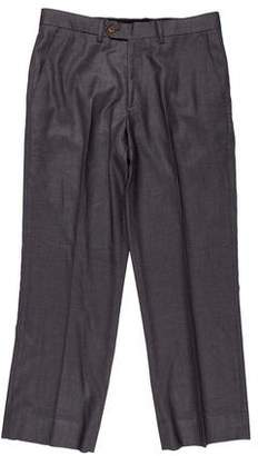 Paul Smith Cropped Striped Wool Pants