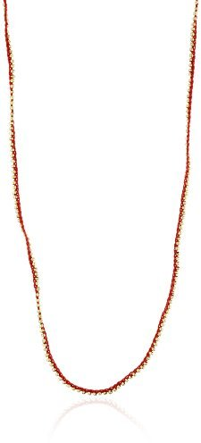 Shashi Red Golden Nugget Necklace