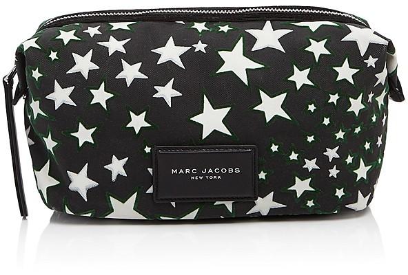 Marc JacobsMARC JACOBS Large Biker Flocked Stars Print Cosmetic Case