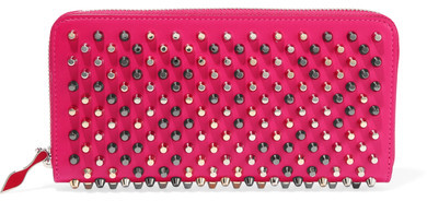 Christian Louboutin  Christian Louboutin - Panettone Studded Leather Continental Wallet - Pink