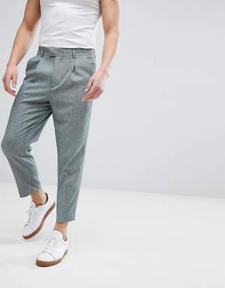 Hatch Asos Design ASOS DESIGN Tapered Smart Pants In Dark Green Cross Nepp
