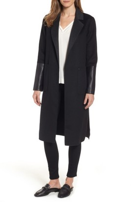 Women's Michael Michael Kors Double Face Wool Blend Duster $258 thestylecure.com