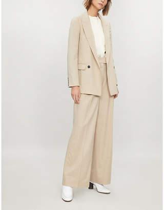 Joseph Twain blouson-sleeve silk-satin blouse