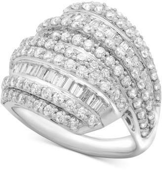 Wrapped in Love Diamond Layered Cluster Ring (2 ct. t.w.) in Sterling Silver