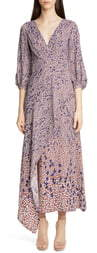 Yigal Azrouel Falling Leaf Print Twill Midi Dress