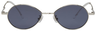 Gentle Monster Silver and Grey Cobalt Sunglasses