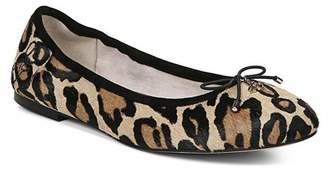 60f23bf9cf9 Sam Edelman Women s Felicia Round Toe Leopard-Print Calf Hair Ballet Flats