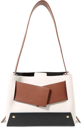 Yuzefi - Biggy Color-block Textured-leather Tote - White