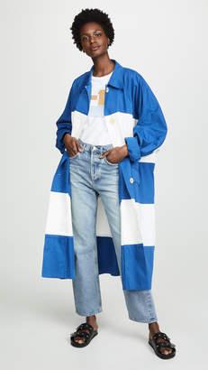 Sonia Rykiel Striped Trench Coat