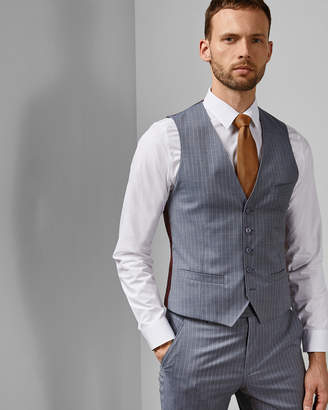 Ted Baker GULLW Debonair stripe wool waistcoat
