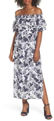 Chelsea28 Off the Shoulder Ruffle Maxi Dress (Regular, Petite & Plus Size)