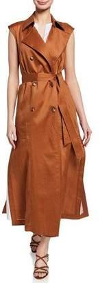 Lafayette 148 New York Fleur Double-Breasted Gemma Cloth Vest