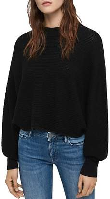 AllSaints Gene Cropped Merino Wool Sweater