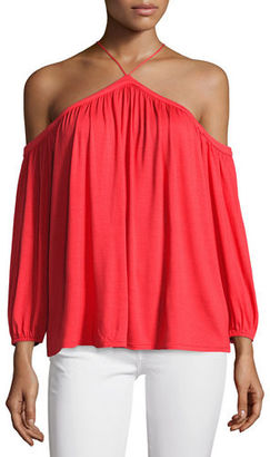 Ella Moss Bella Cold-Shoulder Top $128 thestylecure.com