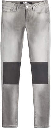 Karl Lagerfeld Skinny Jeans with Coated Knees