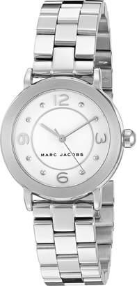 Marc by Marc Jacobs Women's MJ3472 Riley Analog Display Analog Quartz Silver Watch