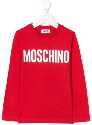 Moschino Kids logo patch sweatshirt
