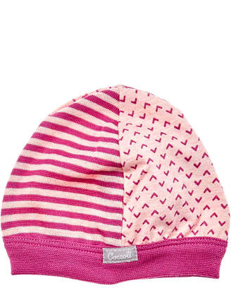 Coccoli Girls' Magenta Print Cap