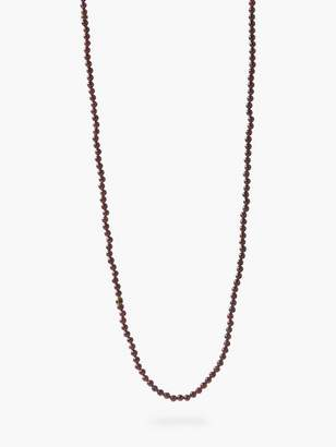 John Varvatos Beaded Lava & Bronze Necklace