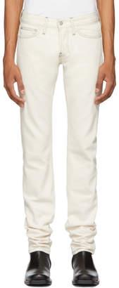 Helmut Lang Beige Masc Lo Drainpipe Jeans