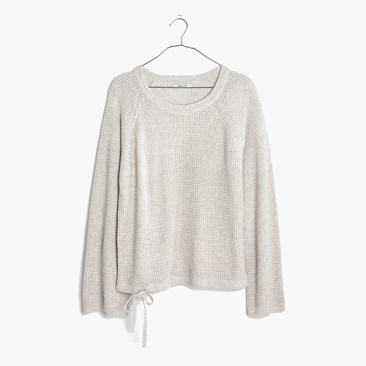 Wafflestitch Drawstring Sweater