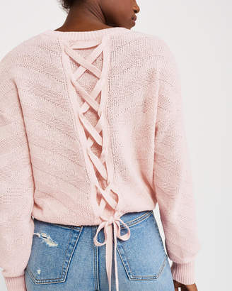 Abercrombie & Fitch Lace-Up Back Sweater