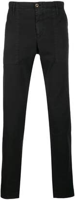 Pt01 washed effect slim-fit trousers
