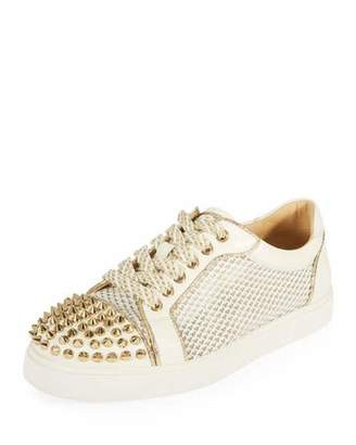 Christian Louboutin AC Viera Spikes Red Sole Low-Top Sneaker
