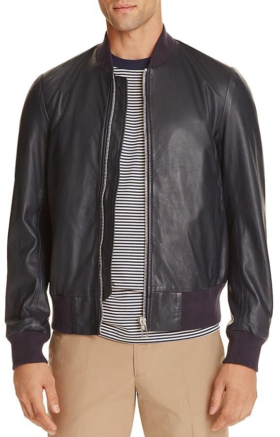 Paul SmithPS Paul Smith Leather Bomber Jacket