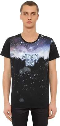 Balmain Galaxy Printed Cotton Jersey T-Shirt