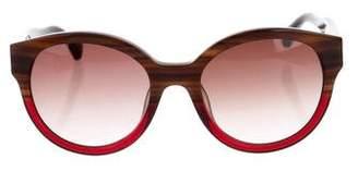 Calvin Klein Collection Oversize Round Sunglasses
