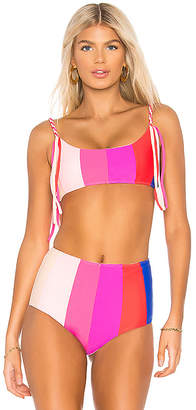 Paper London Rainbow Sunshine Bikini Top