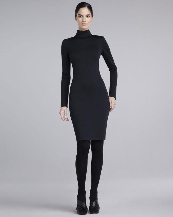 St. John Knit Turtleneck Dress