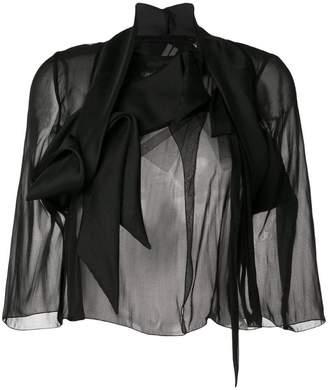 Rick Owens Wishbone glitter combo jacket