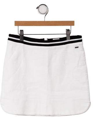 Karl Lagerfeld Girls' Stripe-Trim Mini Skirt