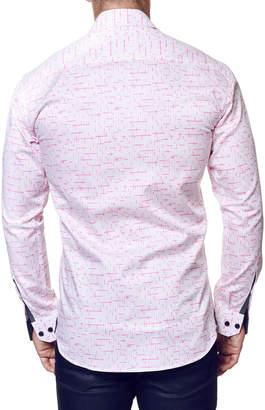 Maceoo Shaped-Fit Wall Street Tetris Dress Shirt