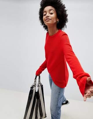 Brave Soul Village Cross Front Sweater