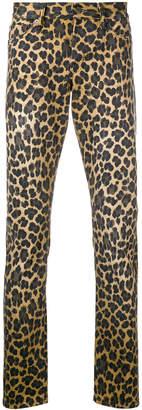 Tom Ford leopard print skinny jeans