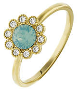 Accessorize Flower Ring With Swarovski® Crystals