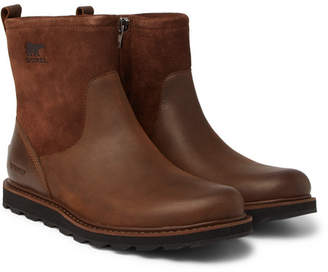 Sorel Madson Shearling-lined Waterproof Leather And Suede Boots