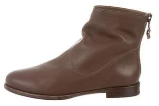 Henry Beguelin Praline Leather Ankle Boots