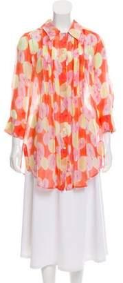 Diane von Furstenberg Olympia Button-Up Top
